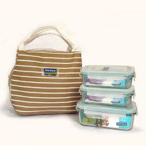 Bộ túi đựng cơm trưa LUNCH 40×2-67K