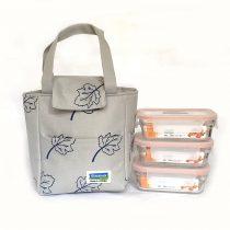 Bộ túi đựng cơm trưa LUNCH 390x3L